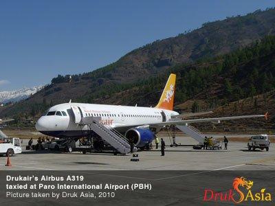 A319 to service Paro-Singapre Route
