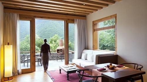 One Bedroom Villa Living Room Punakha