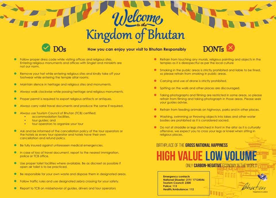 do and dont in bhutan